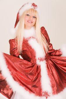 Pretty Mrs. Santa Royalty Free Stock Photo