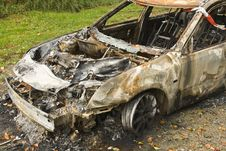 Free Burned Car Royalty Free Stock Images - 7009249