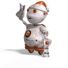 Free Cute Roboter With Lot Of Emotion Royalty Free Stock Photo - 7009695