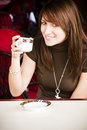Free Smiling Woman With A Cup Of Coffee Royalty Free Stock Images - 7014049