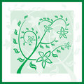 Free Floral Green Spring Ornament. Royalty Free Stock Photos - 7015428