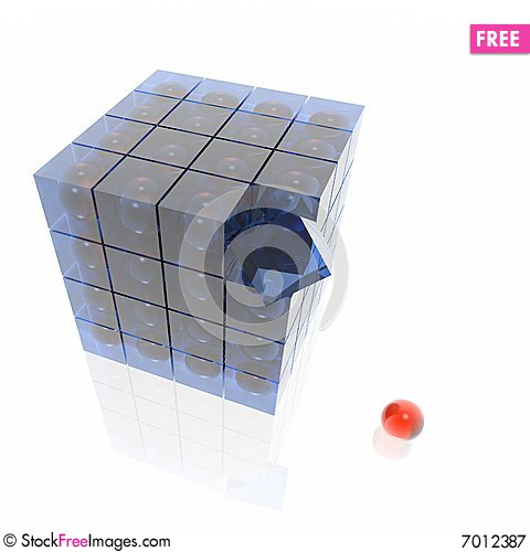 Free Cube From Cubes Royalty Free Stock Photography - 7012387