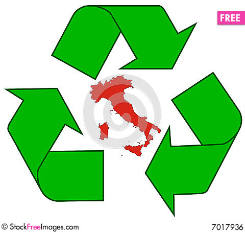 Free Recycling Italy Royalty Free Stock Image - 7017936