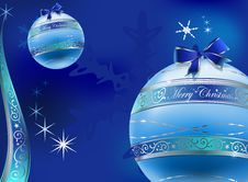 Free Christmas Glas Balls Decoration Background Stock Image - 7010451