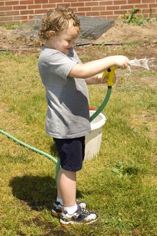 Spraying Hose Royalty Free Stock Photography