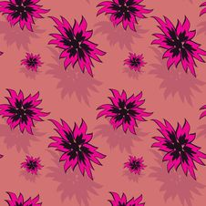 Free Seamless Background With Red Flowers Royalty Free Stock Photo - 7011125