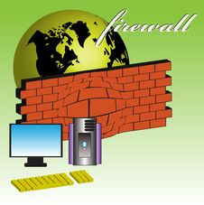 Free Firewall Royalty Free Stock Image - 7011166