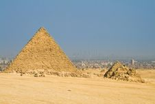 Pyramid In Giza Royalty Free Stock Image