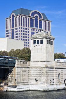 Bridge In Milwaukee Stock Images