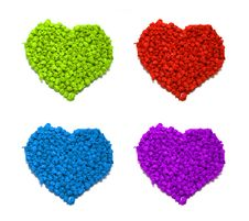 Free Coloured Hearts Royalty Free Stock Image - 7011746