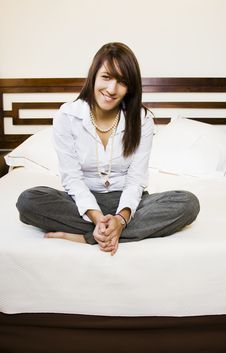 Free Businesswoman In Bed Royalty Free Stock Photography - 7011977