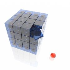 Cube From Cubes Royalty Free Stock Photography