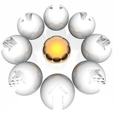 Free Spheres With An Arrow Royalty Free Stock Photos - 7012608