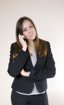 Free Young Woman On The Phone Royalty Free Stock Image - 7013146
