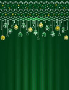 Free Green Christmas Card, Vector Stock Photos - 7013203