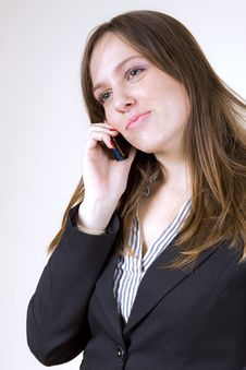 Free Good News Girl With Cellphone Stock Photography - 7013212
