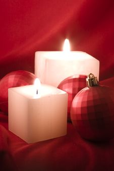 Free Candles And Baubles Royalty Free Stock Photo - 7013755