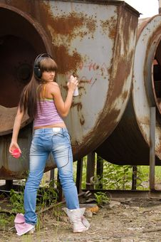 Free Girl In Headphones Royalty Free Stock Photos - 7014708