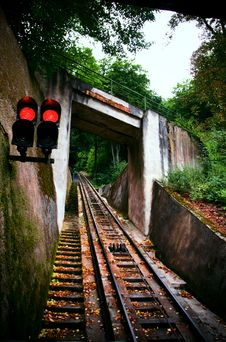 Free Funicular Railway. Karlovy Vary Royalty Free Stock Photo - 7014725