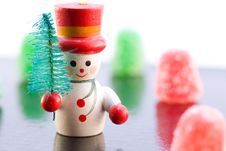 Free Snowman On Ice Royalty Free Stock Image - 7014816
