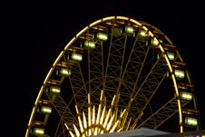 Free Beautiful Ferris Wheel With Lights Royalty Free Stock Photography - 7015017