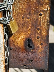 Free Rusted Keyhole Stock Photo - 7015250