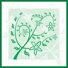 Floral Green Spring Ornament.