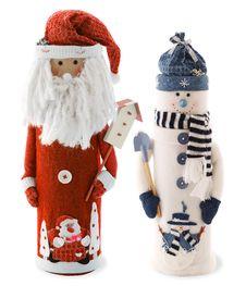 Snowman And Santa Royalty Free Stock Photo