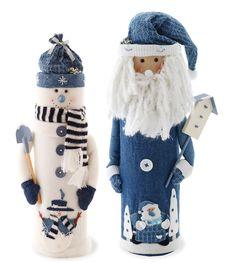 Snowman And Santa Stock Photography