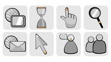 Website And Internet Icons Royalty Free Stock Photos