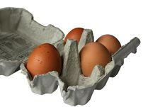 Free Brown Eggs In Eggbox Stock Image - 7015741