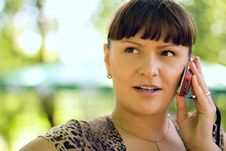 Free Woman With Phone Stock Photography - 7015752