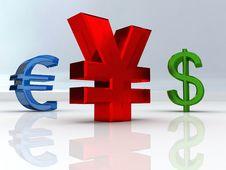 Free Yen Symbol Stock Image - 7016471