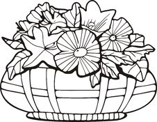 Free Floral Basket Stock Images - 7016674