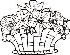 Free Floral Basket Royalty Free Stock Image - 7016696