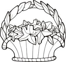 Free Floral Basket Stock Image - 7016711