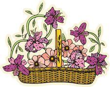 Free Floral Basket Royalty Free Stock Photo - 7016715