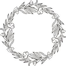 Free Floral Frame Royalty Free Stock Images - 7017049