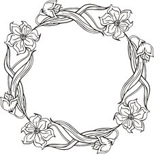 Free Floral Frame Stock Image - 7017051
