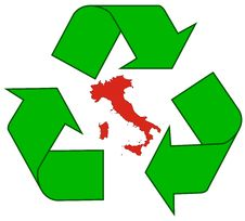 Recycling Italy Royalty Free Stock Image