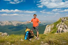 Free Happy Hiker Stock Images - 7018034