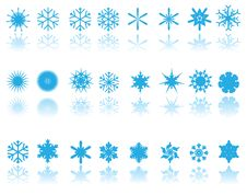 Free Blue Snowflakes Royalty Free Stock Photography - 7018057