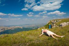 Free Happy Hiker Stock Photos - 7018073
