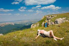 Free Happy Hiker Stock Image - 7018081