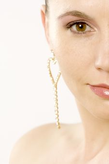 Free Half Face Of A Woman Stock Images - 7018754