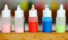 The Colorful Paint In Bottle