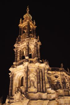 Free Cathedral In Night Royalty Free Stock Photos - 7019208