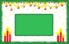 Green Christmas Card Stock Photography