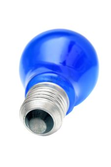 Free Blue Light Bulb. Royalty Free Stock Image - 7019456
