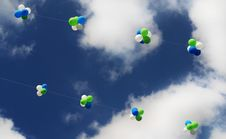 Free Balloons In The Sky Royalty Free Stock Image - 7019846
